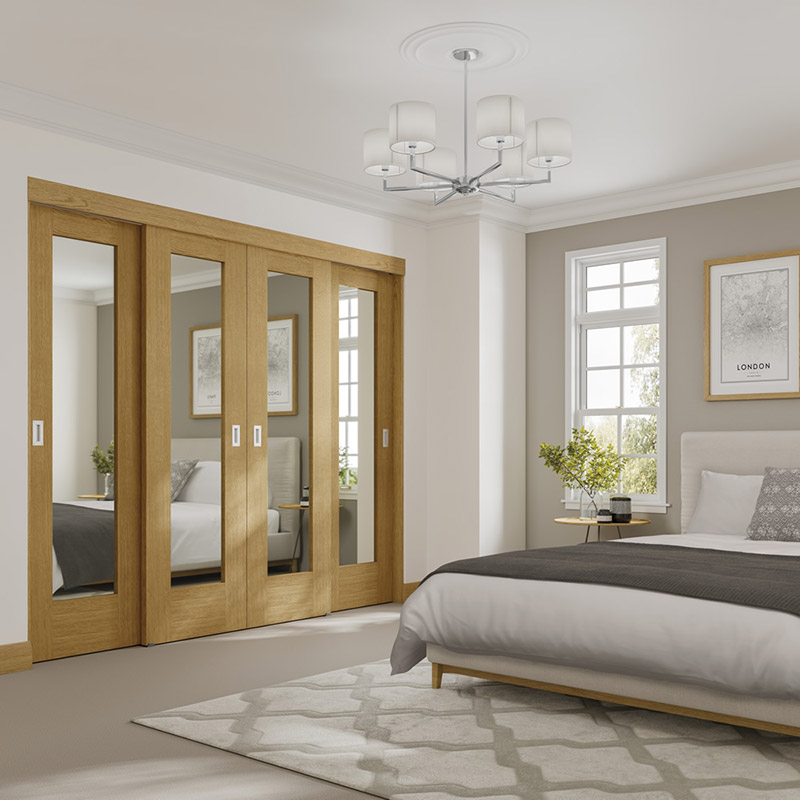 Oak Pattern 10 Doors with Easi Slide from Interiora Newlyn